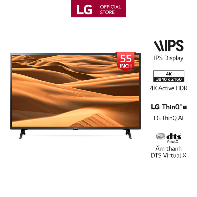 Smart Tivi LG 55 Inch UHD 4K 55UM7300PTA Model 2019 - Có Magic Remote (Chính H