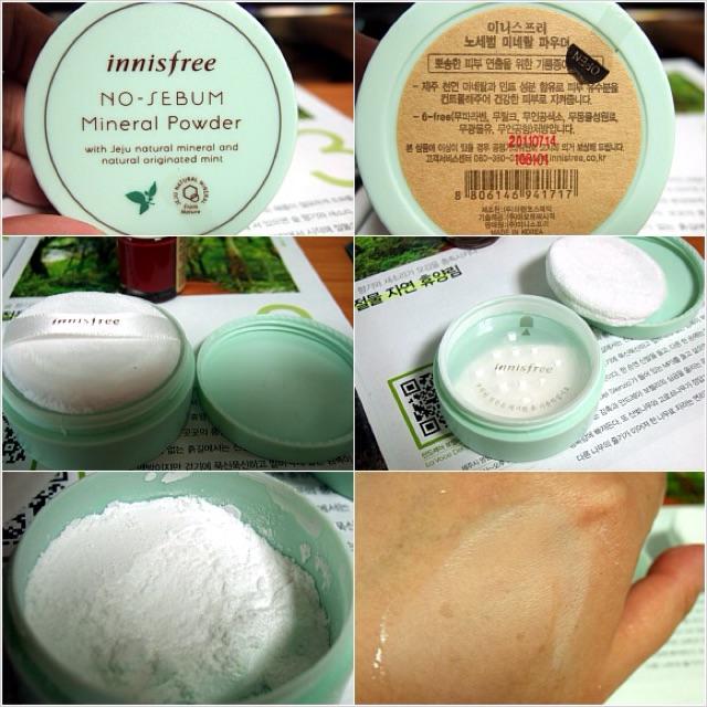 Phấn phủ dạng bột kiềm dầu no sebum mineral powder