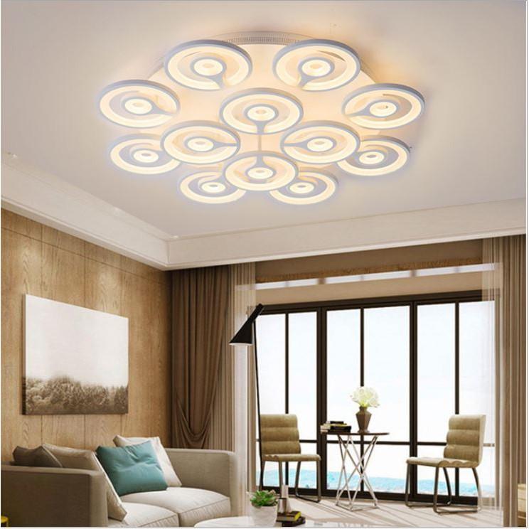 Đèn trần RENTOR 3 chế độ ánh sáng hiện đại trang trí nội thất - kèm bóng LED chuyên dụng và điều khiển từ xa