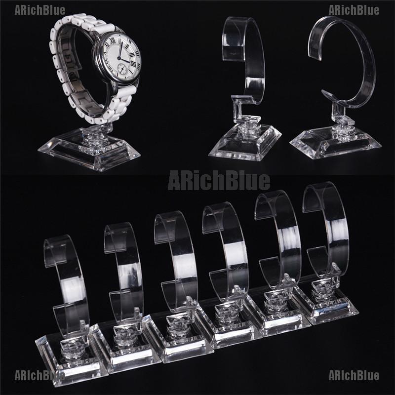 ARichBlue 2pcs Clear Acrylic Detachable Bracelet Jewelry Watch Display Holder Stand Rack
