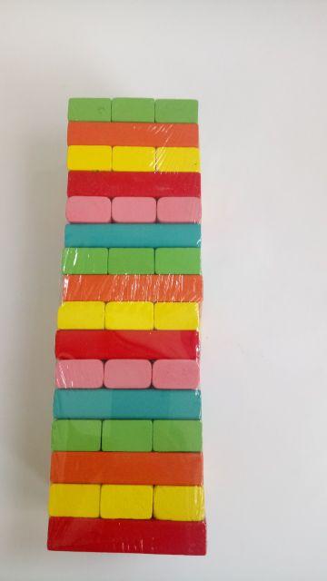 [ Nhập mã TOYJUNE giảm 10k] Trò chơi rút thanh gỗ màu sắc loại to 48 pcs