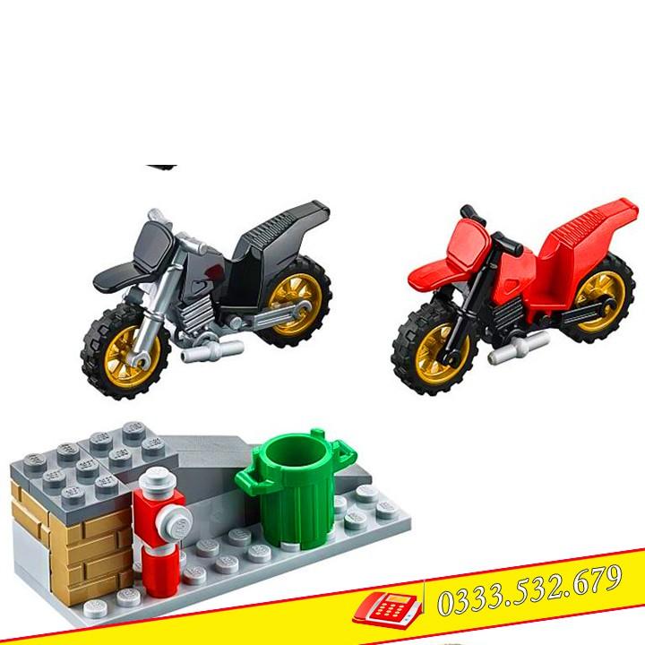 Bộ Lego Lắp Ráp Ninjago Xe Phạm Nhận 10418/198PCS(Chi Tiết). Lego Xếp Hình Đồ Chơi Trí Tuệ