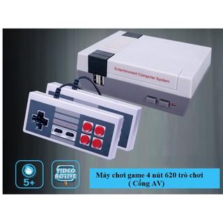 Máy chơi game điện tử 4 nút 620 trò chơi (cổng kết nối AV) thumbnail