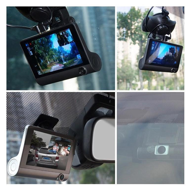 [Tặng thẻ Nhớ 16GB] Camera hành trình ô tô 3 mắt camera, màn hình 4 inh full HD, ghi hình đa chiều, hình ảnh sắc nét