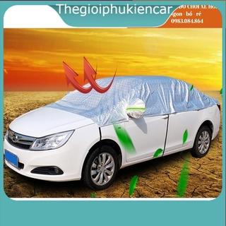 Bạt phủ nóc xe oto SEDAN-SUV-HATBACK hàng 5d 3 lớp dày dặn, chống nắng - bạt chống nóng xe ô tô thumbnail