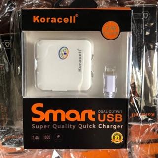IP-Bộ sạc Koracell 2.4A, 2 cổng USB
