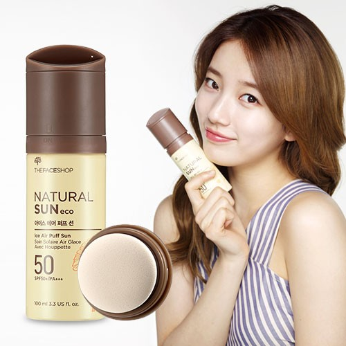 Kem Chống Nắng The Face Shop Natural Sun Eco Ice Air Puff Sun SPF50