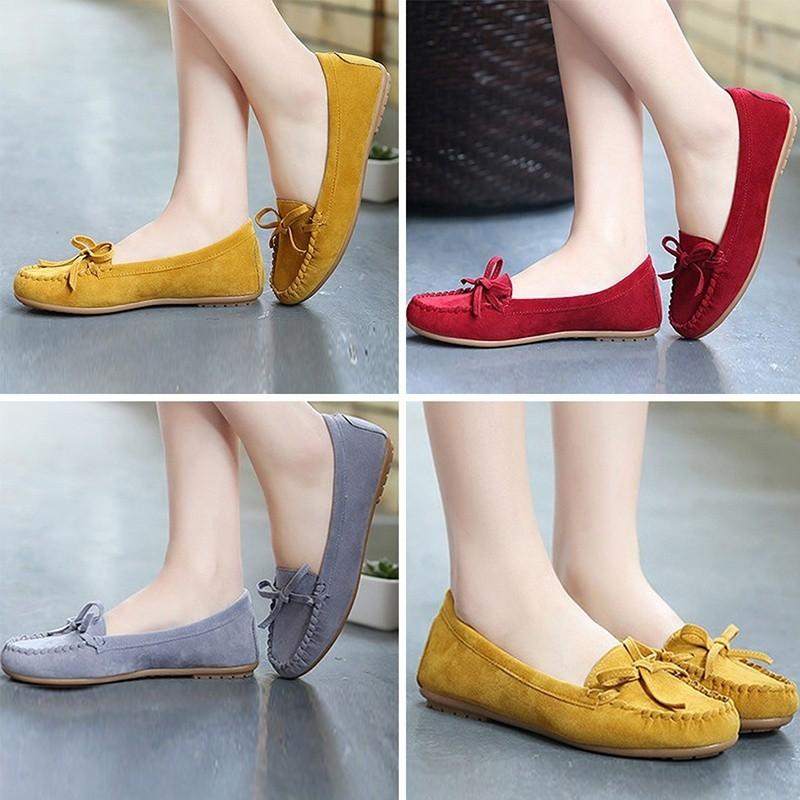 Giày nữ đế bằng kiểu dáng thời trang phong cách
