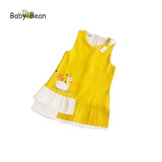 [Mã KIDMALL15 hoàn 15% xu đơn 150K] Đầm Thiên Nga Xếp Ly điệu đà bé gái BabyBean