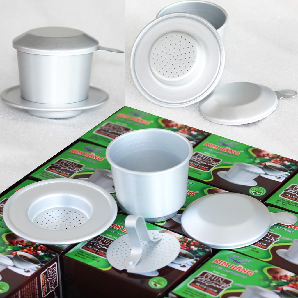 Phin pha cà phê nhôm cao cấp chuyên pha cà phê rang mộc nguyên chất - công nghệ xi Anodizing chống trầy độc quyền
