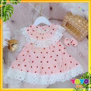 Váy Kèm Bờm Cho Bé Dáng Xòe, Yoyokid Chính Hãng, size Từ 8-17kg