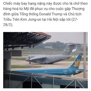 [Giảm Giá Gắt] Máy bay vận C-17 điều khiển ( C-17 Mỹ chở hàng hóa phục vụ Cuộc gặp Thượng Đỉnh ở sân bay Nội Bài)