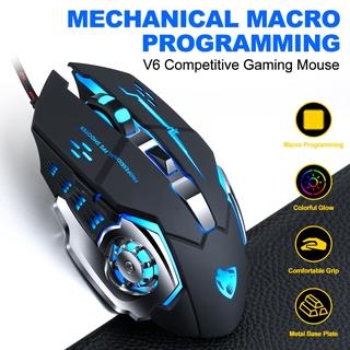 Chuột Chơi Game V6 Usb Có Đèn Led Màu Sắc Sặc Sỡ thumbnail