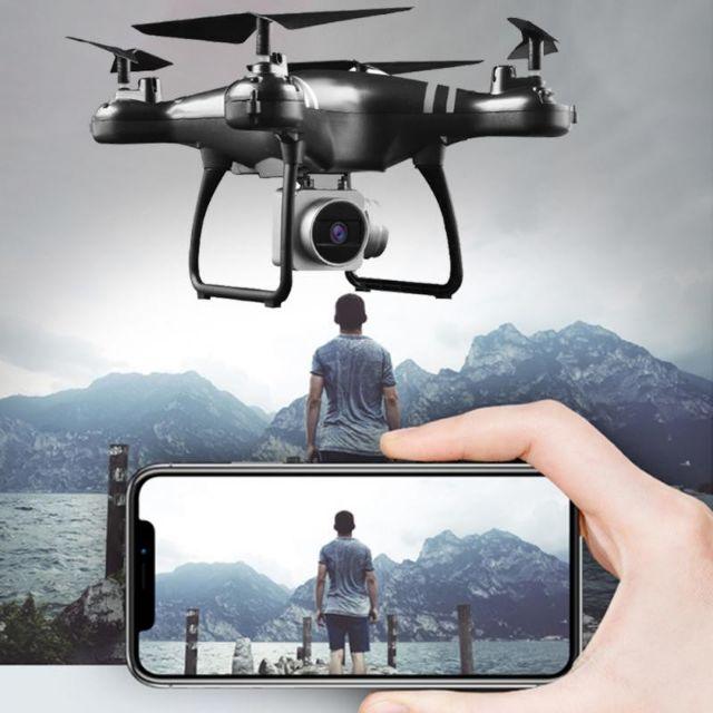 Máy bay điều khiển từ xa Flycam KY101 có Camera HD 720P Wifi FPV trực tiếp tự cân bằng
