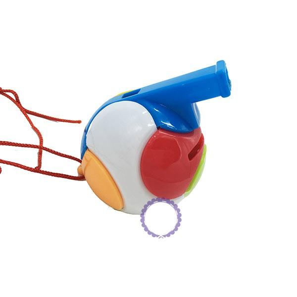 Đồ chơi thổi còi banh bằng nhựa phát ra âm thanh vui tai cho bé