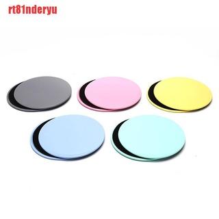 [rt81nderyu]2PCS Gliding Discs Slider Fitness Disc Exercise Sliding Plate For Yoga Gym Core
