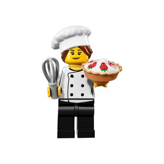 [New] Lego minifigures 71018 series 17 – nhân vật số 3 Gourmet Chef – nữ bếp trưởng