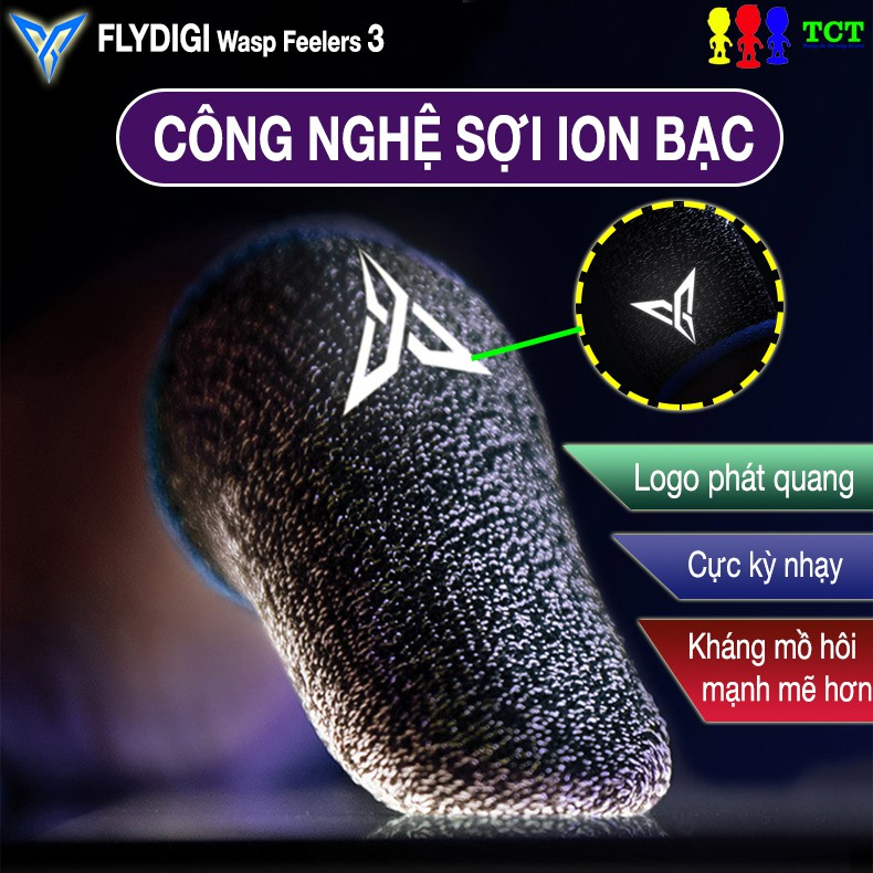 [THẾ HỆ MỚI] Flydigi Wasp Feelers 2  - Quick Flash Wasp Feelers 2 |Bao Găng Tay Chơi Game Mobile Công Nghệ Sợi Carbon