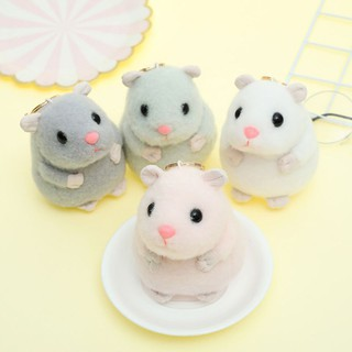 RAN☆Mini Cartoon Hamster Keychain Stuffed Animals Key Chain Handbag Purse Pendant