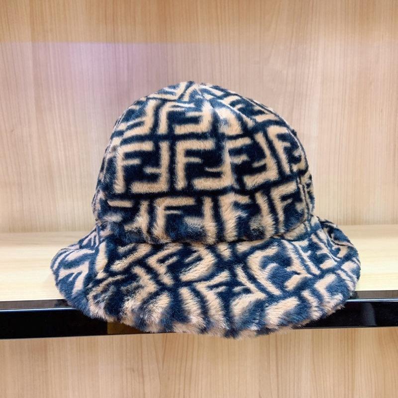 Mũ lông ngư dân FF Fendi nữ sinh viên mùa đông hoang dã dày mũ -1