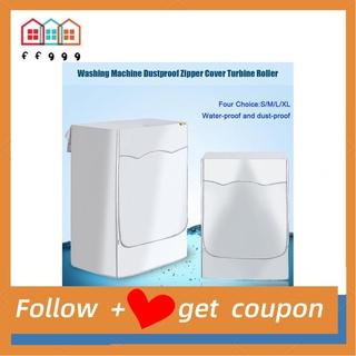 Ffggg Washing Machine Dustproof Zipper Cover Turbine Roller Protect Waterproof S/M/L S