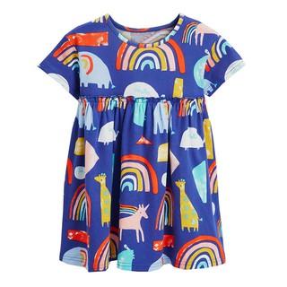 Mã 1138 váy xanh dương in hình ngựa pony và cầu vồng của Aosta Betty