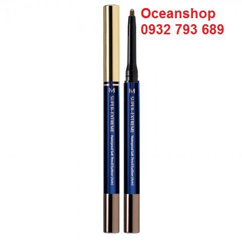 Chì kẻ mắt không trôi Missha Super Extreme Waterproof Soft Pencil Eyeliner về hàng SALE 50% (Bill mu