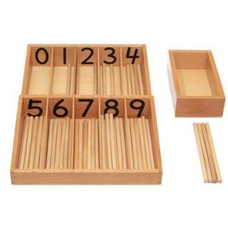 Giáo cụ Montessori – Spindle Box 45 que tính loại to