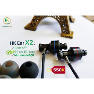 Tai nghe thủ công HK Ear X2, chất âm Bass Mid thumbnail