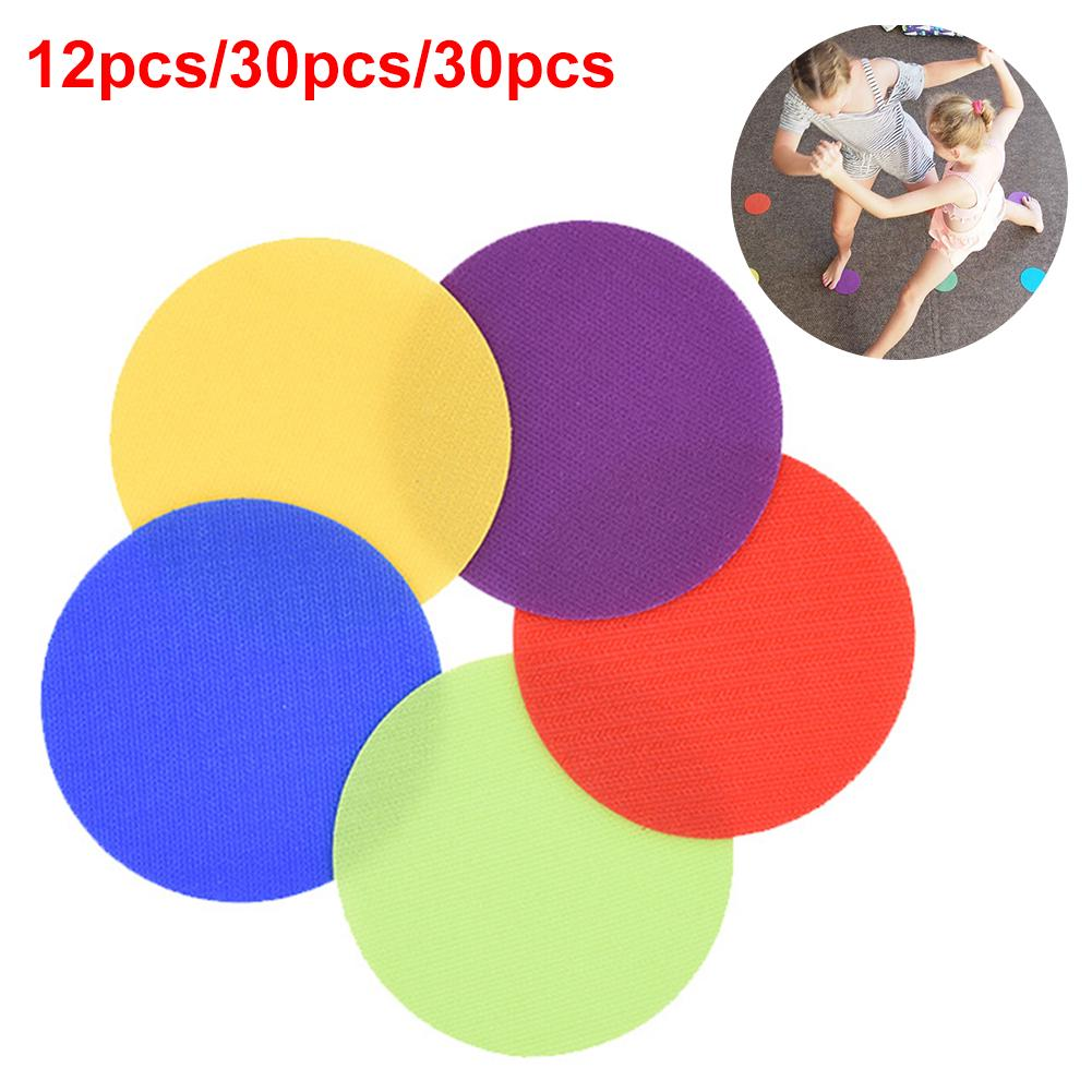 6 Colors Sitting Sports Floor Kindergarten Toys Round Children Game Spot Markers