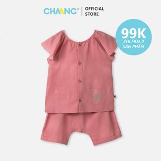 Bộ quần áo đũi hồng vỏ đỗ bé gái CHAANG (SS20) thumbnail