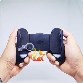 Tay cầm game và nút game M6, kèm 02 nút di chuyển cho điện thoại ( Liên quân Mobile, PUBG, ROS,Free Fire) thumbnail