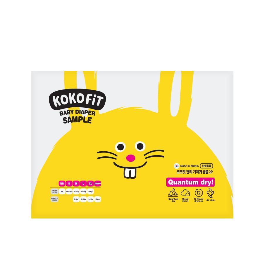 Mẫu dùng thử bỉm quần KoKo Fit Hàn Quốc size M/L/XL/Jumbo (2 miếng)