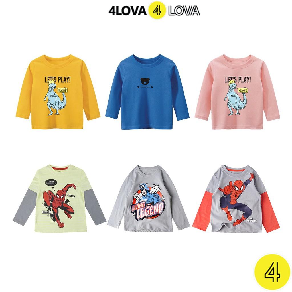 Áo thun dài tay unisex 4LOVA nhiều họa tiết ngộ nghĩnh đáng yêu cho bé