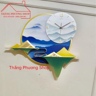[Mẫu Mới] Đồng Hồ Treo Tường Trang Trí Thảo Nguyên TP-081 (Hàng Chính Hãng Loại 1)