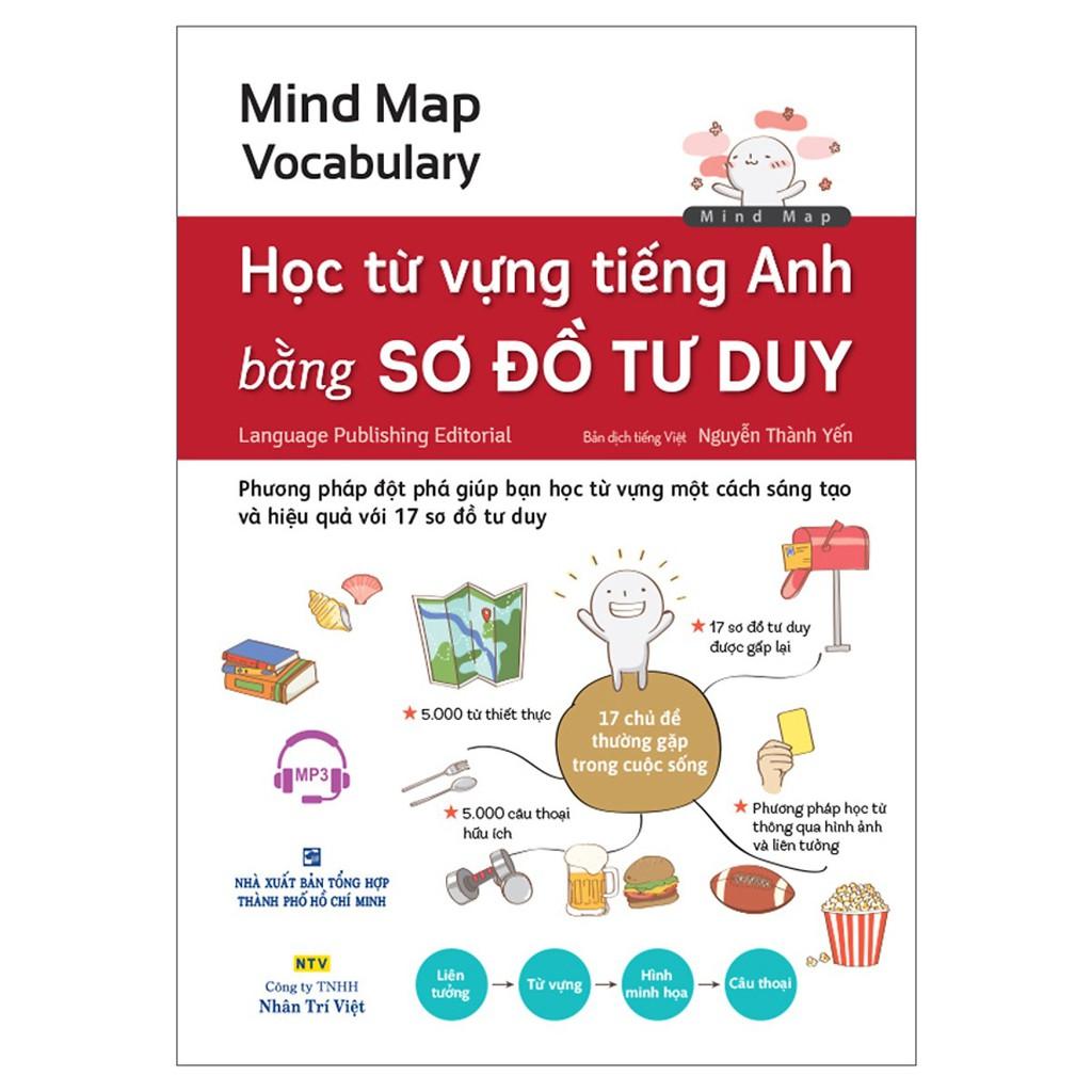 Sách - Mind Map Vocabulary - Học Từ Vựng Tiếng Anh Bằng Sơ Đồ Tư Duy (Kèm 1 Đĩa MP3)
