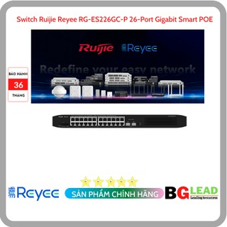 Thiết bị mạng Switch Ruijie Reyee RG-ES226GC-P 26-Port Gigabit Smart POE thumbnail