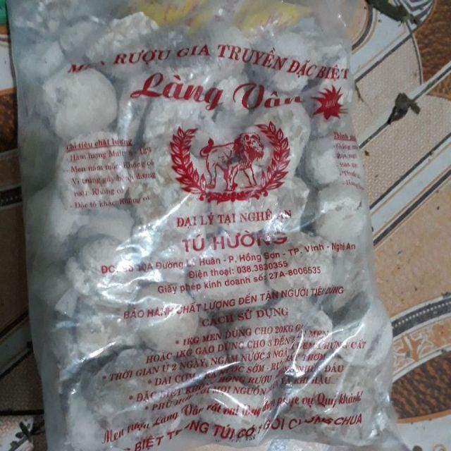 Men rượu làng vân Tú Hường 1kg