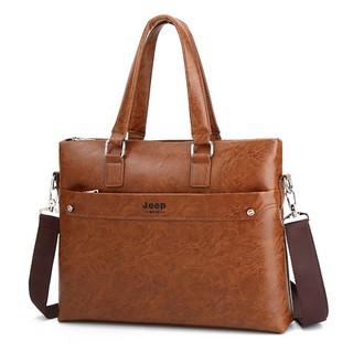 Túi xách da công sở JEEP BULUO T05-2 cao cấp vừa laptop 15inch, túi đeo quai, túi đựng laptop, túi thời trang công sở