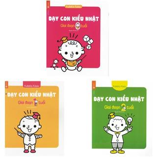 Sách - Trọn bộ 3 quyển - Dạy con kiểu nhật - Giao đoạn 0 - 1 - 2 tuổi