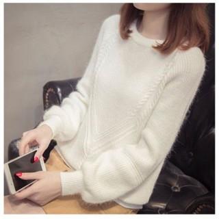 Áo len tăm nữ cổ tròn chất mềm mịn - V0037