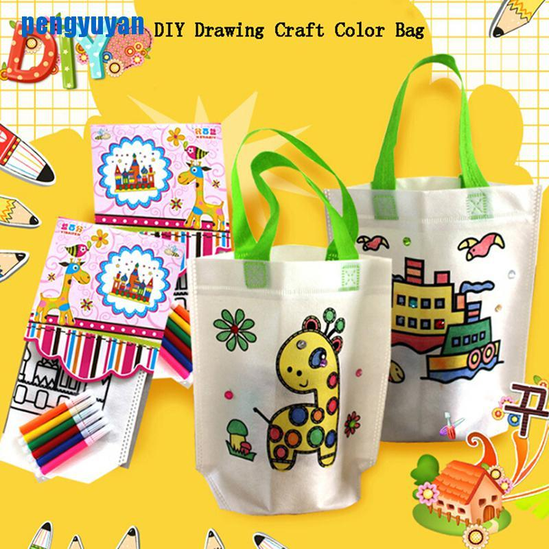 [peng] 1Pc kids diy drawing craft color bag children learning educational drawing toys [vn]