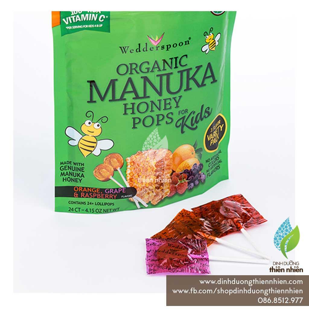 Kẹo Mút Hữu Cơ Từ Mật Ong Manuka, Wedderspoon Organic Manuka Honey Pops For Kids - 2495901 , 1294715679 , 322_1294715679 , 70000 , Keo-Mut-Huu-Co-Tu-Mat-Ong-Manuka-Wedderspoon-Organic-Manuka-Honey-Pops-For-Kids-322_1294715679 , shopee.vn , Kẹo Mút Hữu Cơ Từ Mật Ong Manuka, Wedderspoon Organic Manuka Honey Pops For Kids