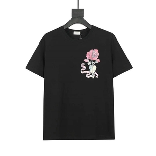 DI OR Graphic printed cotton couple round neck short-sleeved T-shirt 031#