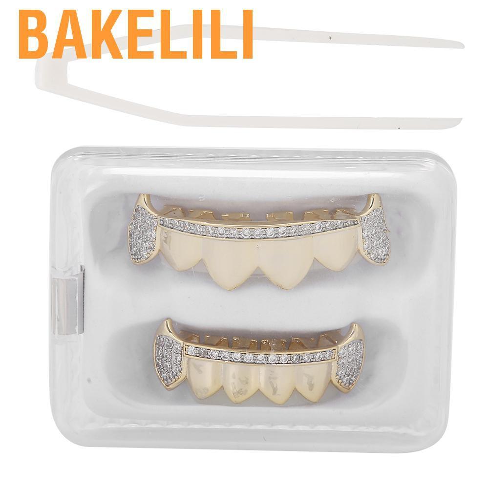 (Hàng Mới Về) Bộ Răng Giả Lấp Lánh Trang Trí Halloween Ấn Tượng