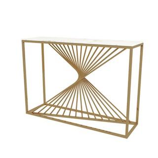 bán trước giá rẻBắc Âu hiện đại tối giản lưới màu đỏ hiên nhà bàn bằng sắt vàng trang trí phòng khách bảng v11