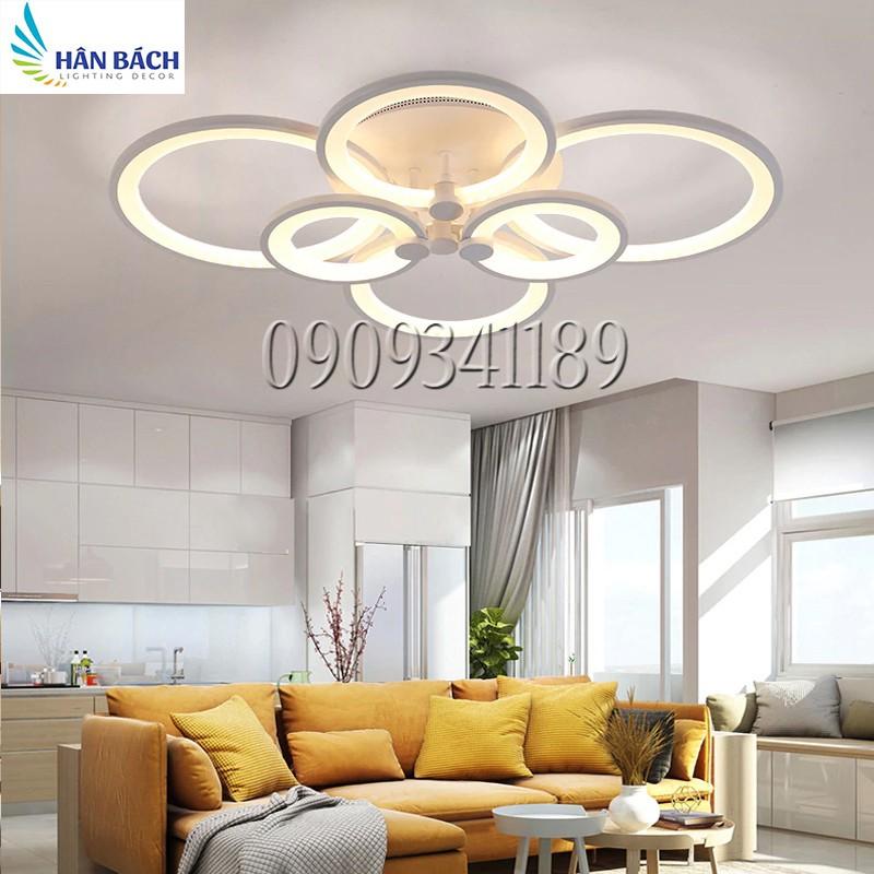 Đèn Mâm LED Ốp Trần Hiện Đại Trang Trí Phòng Khách Led 3 Chế Độ Màu