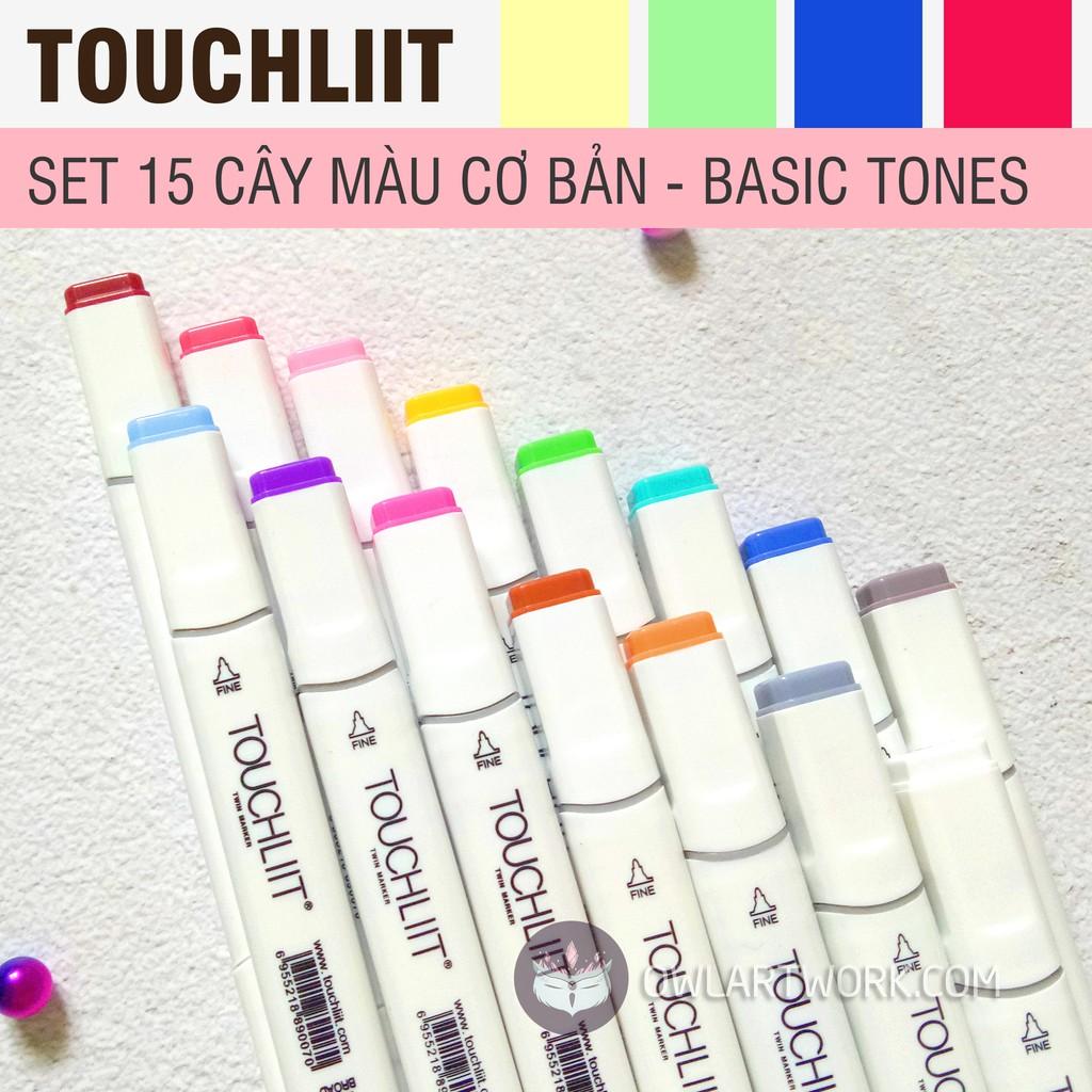 Bút Marker Touchliit 6 Set Cơ Bản 15 Cây - Tặng Túi Vải