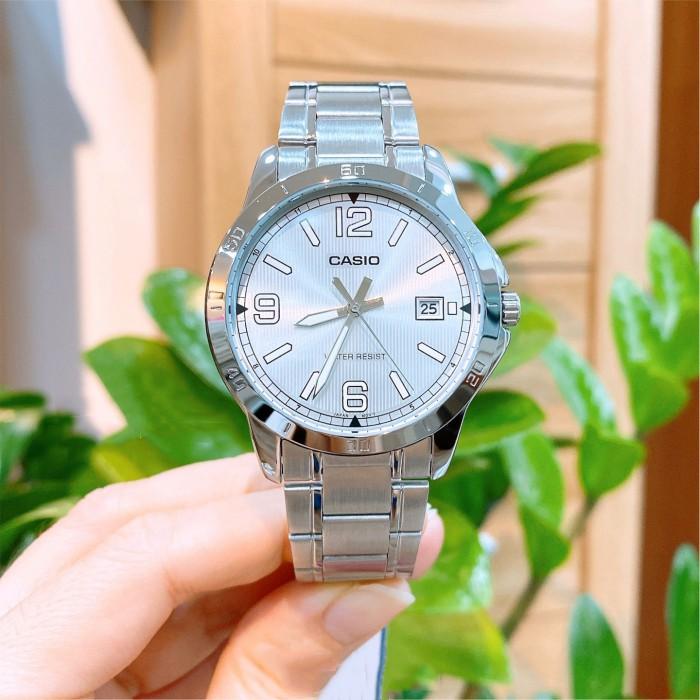 Đồng hồ nam dây kim loại Casio Anh Khuê MTP-V004D-7B2UDF