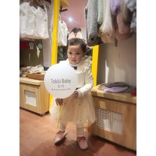 Váy công chúa xuất Hàn cổ lông cho bé gái (2 màu)